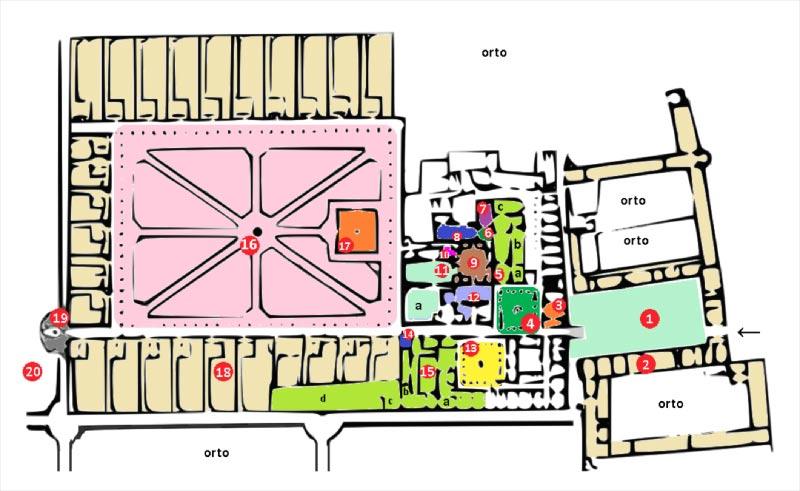la cartina della certosa di padula